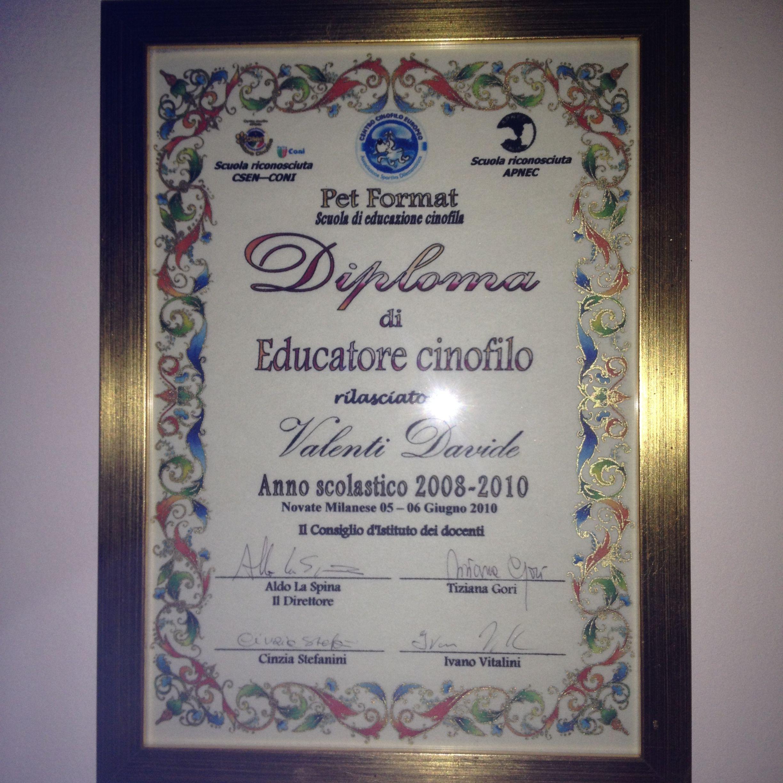 Centro Cinofilo Europeo Novate Milanese.Chi Sono Davide Valenti Educatore Cinofilo Voghera